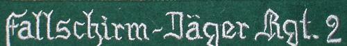 Fallschirm-jager Regt 2 Cuff Title WOOL