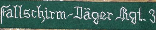Fallschirm-jager Regt 3 Cuff Title WOOL