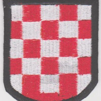 GERMAN ARMY CROATIAN VOLUNTEERS SLEEVE SHIELD PATCH