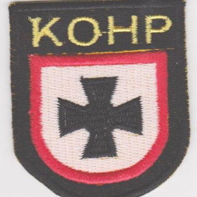GERMAN ARMY KOHP VOLUNTEERS SLEEVE SHIELD