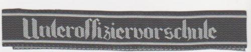 German Army UNTEROFFIZIERVORSCHULE Cuff Title BEVO