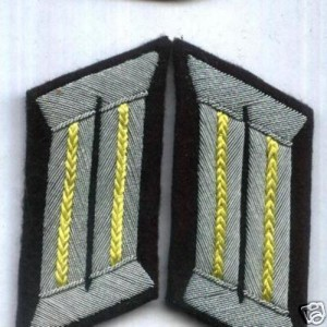 WW2 GERMAN CALALRY ARMY OFFICER COLLAR TABS CAVALRY