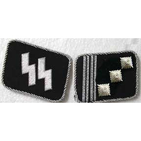 SS Hauptsturmfuhrer Collar Tabs