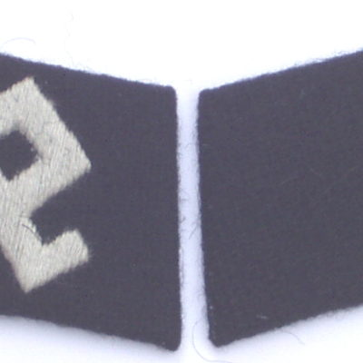 German WW2 Waffen SS Prinz Eugen officers collar tabs