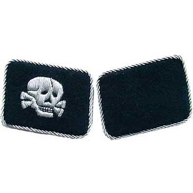 SS Totenkopf Officers Collar Tabs Horizontal
