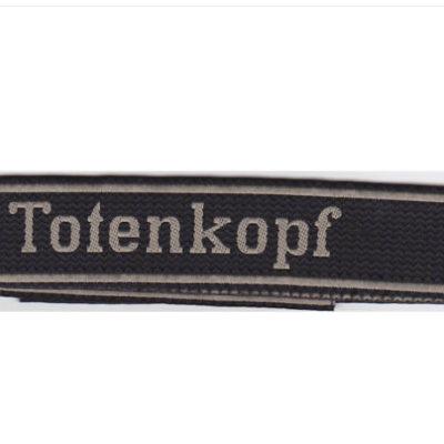 waffen SS TOTENKOPF cuff title in BEVO