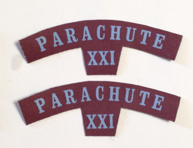British Army PARACHUTE REGIMENT XXI Patches