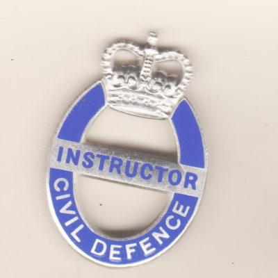 British Civil Defence Instructor Badge