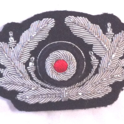 German Panzer Officer cap wreath & cockade