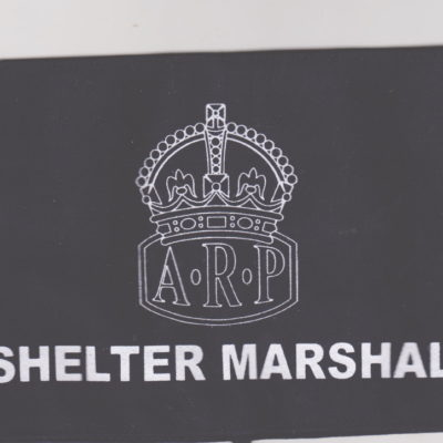 British Army HOME FRONT ARP SHELTER MARSHALL armband