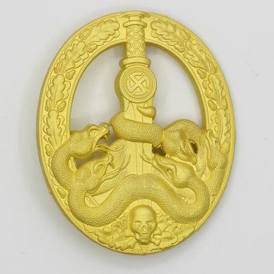German Anti-Partisan War Badge in Gold