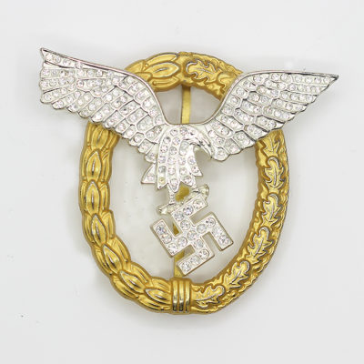 Luftwaffe Combined Pilot-Observer Badge with Diamonds