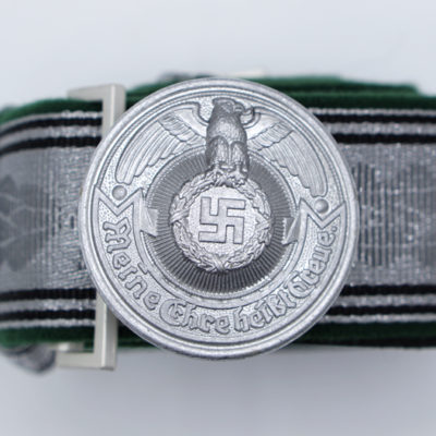 Waffen SS Brocade Dress Belt and Buckle