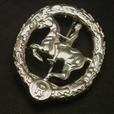 German Horseman's Badge in Silver