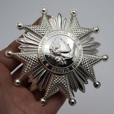 French Legion of Honor Breast Star in Silver FRENCH LEGION D`HONNEUR