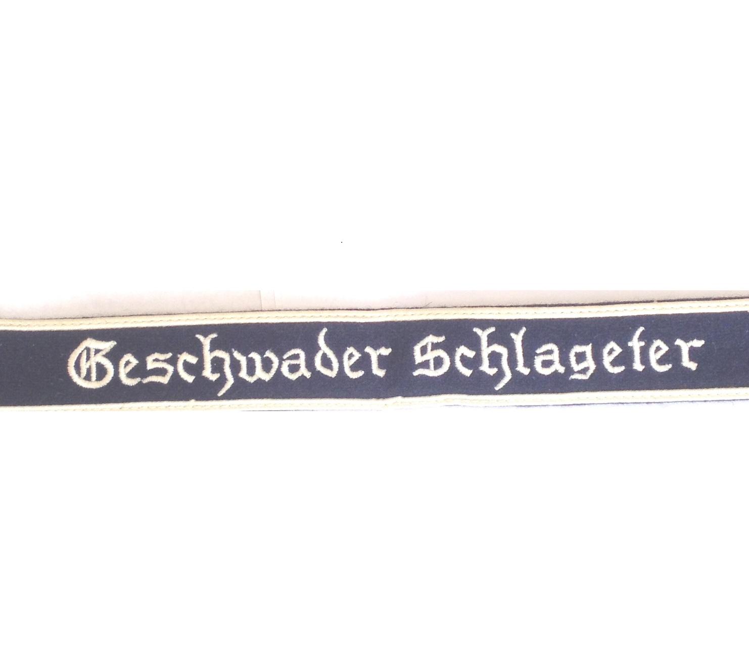German Luftwaffe Geseschwader Schlageter Cuff title