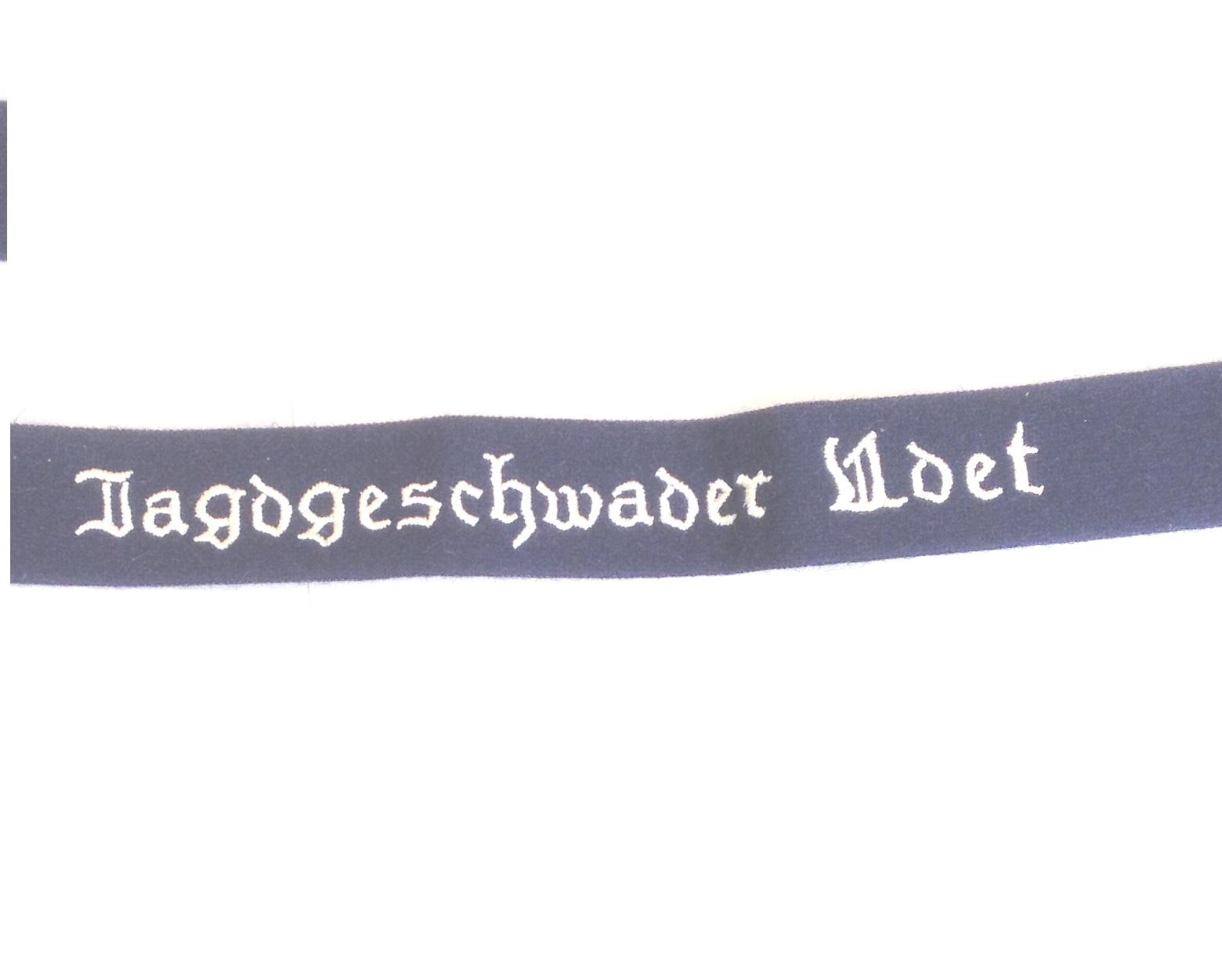 German Luftwaffe Jagdgeschwader UDET Cuff title