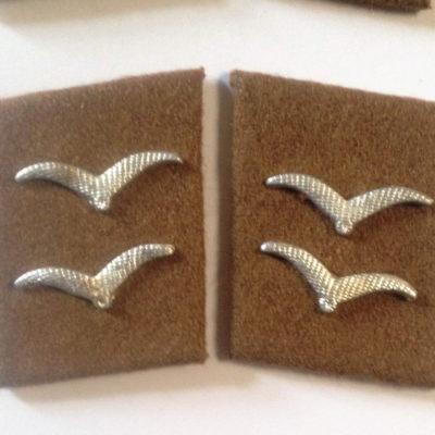 German Luftwaffe SIGNALS GEFREITER Collar tabs