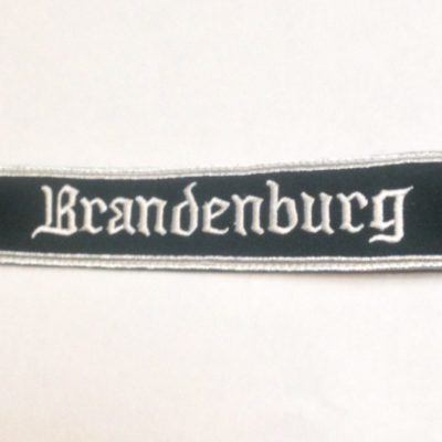 German Army BRANDENBURG cuff title on dark Green wool