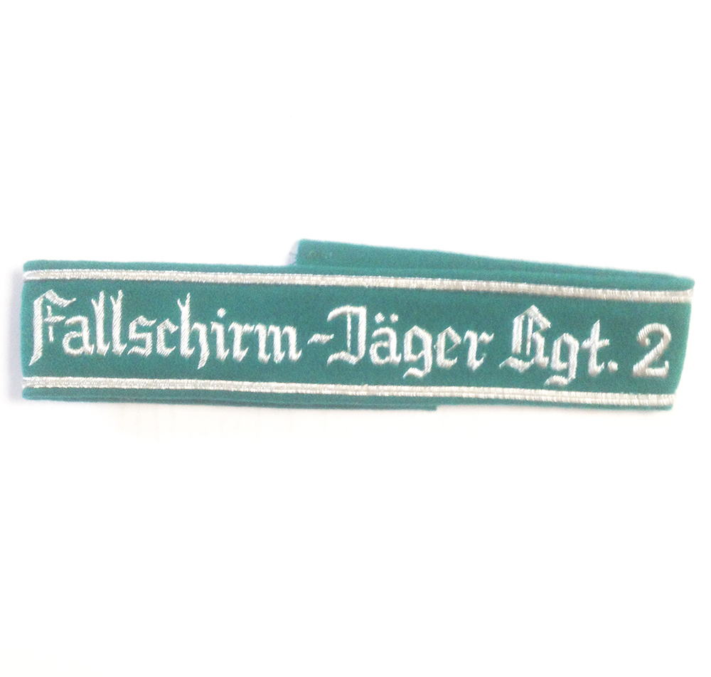 German Army FALLSCHIRMJAGER REGT 2 CUFF TITLE