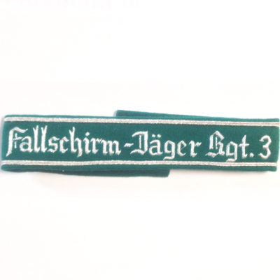 German Army FALLSCHIRMJAGER REGT 3 CUFF TITLE
