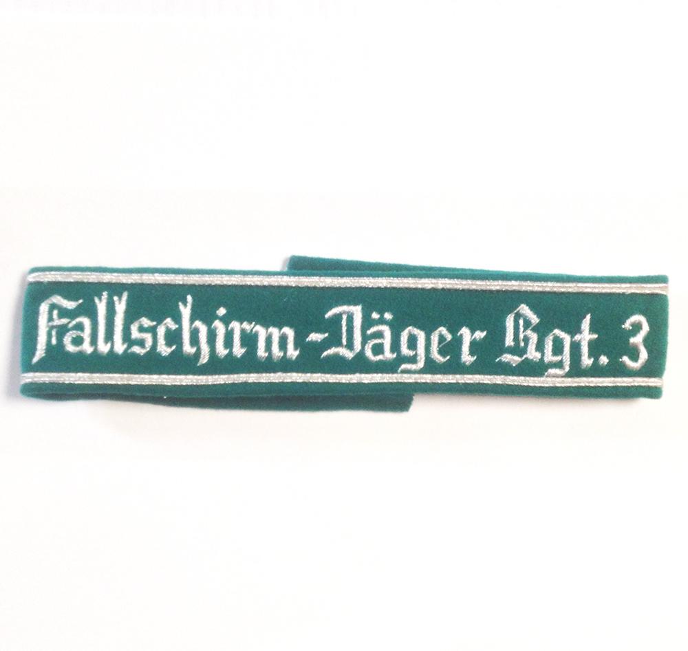 German Army FALLSCHIRMJAGER REGT 3 CUFF TITLE
