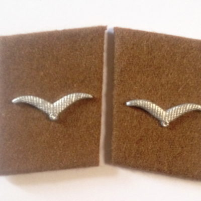 German Luftwaffe SIGNALS Mann Collar tabs Metal