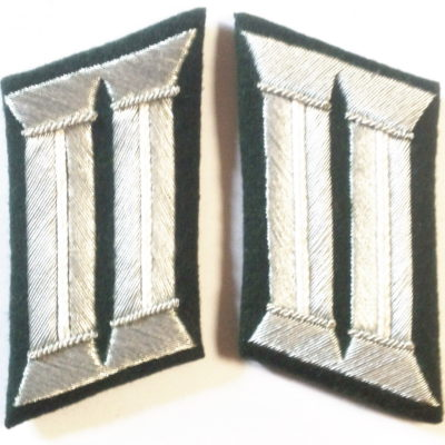 WW2 GERMAN ARMY OFFICER COLLAR TABS INFANTRY PATTERN PAIR