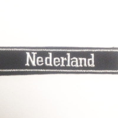 WAFFEN SS OFFICERS German Army WAFFEN ELITE OFFICERS NEDERLAND CUFF TITLE FOR ARM
